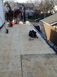 roof pro plus working on a flat roof