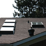 Installing skylights in roof