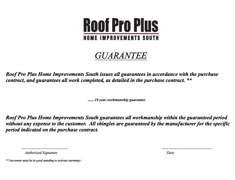 Roofing Workmanship Warranty Amp Roofing Warranties