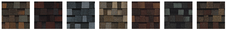 Designer shingles colours from Roof Pro Plus Home Improvements
