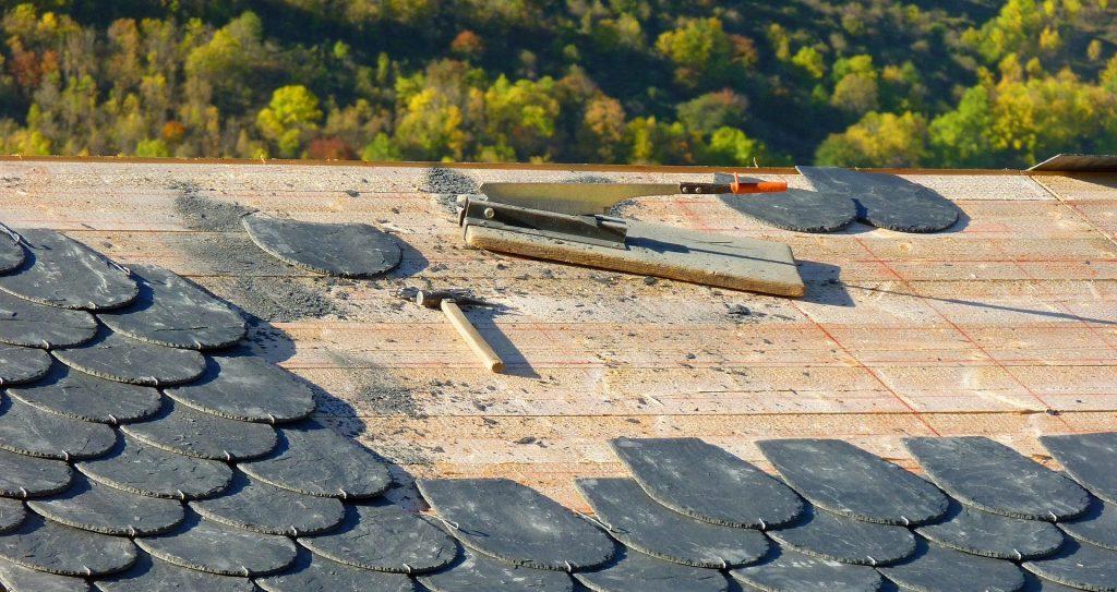 roofing repair company work in progress