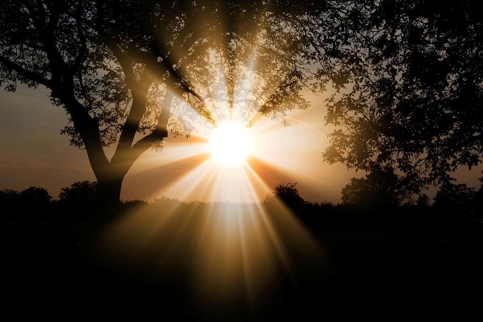 sun dawn nature
