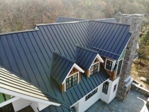 standing seam metal roof with dormers